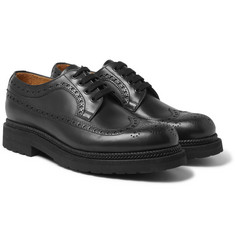 Valentino - Lug-Soled Leather Brogues