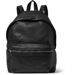 Saint Laurent Washed-Leather Backpack