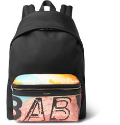 Saint Laurent Hunting Baby-Print Leather Backpack
