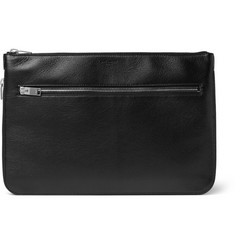 Saint Laurent Rider Grained-Leather Pouch