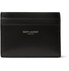 Saint Laurent Full-Grain Leather Cardholder