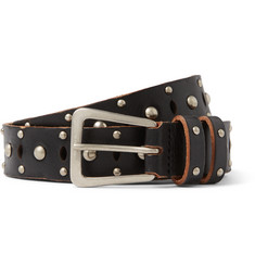 Saint Laurent - 2.5cm Black Studded Leather Belt