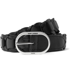 Saint Laurent - 2.5cm Black Braided Leather Belt