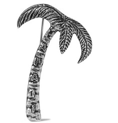 Saint Laurent Silver-Tone Palm Tree Badge