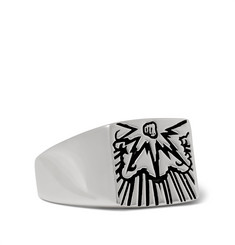 Saint Laurent - Engraved Silver Signet Ring
