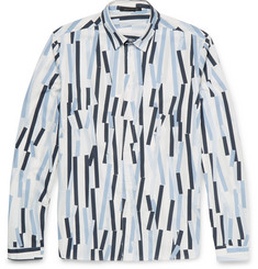 Christopher Kane Bolster Printed Cotton-Poplin Shirt