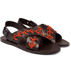Bottega Veneta - Rope-Trimmed Leather Sandals