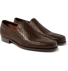 Bottega Veneta - Perforated Leather Loafers