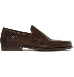 Bottega Veneta Perforated Leather Loafers