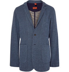 Missoni Blue Zigzag-Knit Cotton Blazer