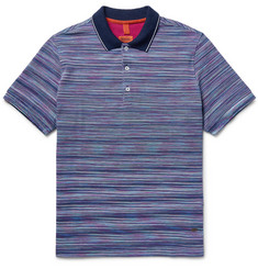 Missoni Space-Dyed Cotton-Piqué Polo Shirt