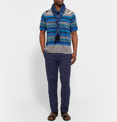 Missoni Tapered Crochet-Knit Cotton Trousers