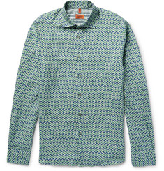 Missoni - Slim-Fit Printed Linen Shirt