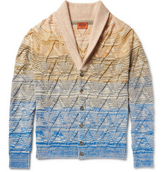 Missoni - Dégradé Cotton, Wool and Linen-Blend Cardigan