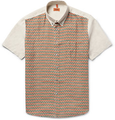 Missoni - Button-Down Collar Printed Linen Shirt