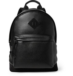 Tom Ford - Suede-Panelled Full-Grain Leather Backpack
