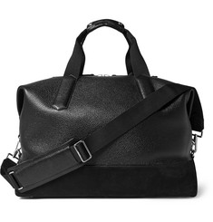 Tom Ford - Suede-Trimmed Full-Grain Leather Holdall