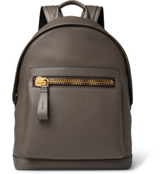 Tom Ford - Buckley Full-Grain Leather Backpack