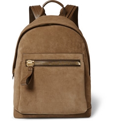 Tom Ford - Buckley Leather-Trimmed Suede Backpack