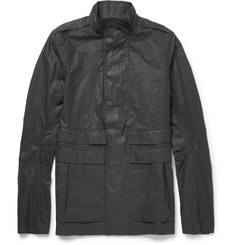 Rick Owens Slim-Fit Coated-Cotton Field Jacket