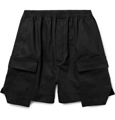 Rick Owens Layered Cotton-Canvas Cargo Shorts