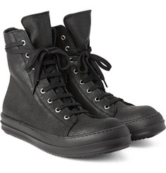 Rick Owens - Coated Canvas High-Top Sneakers