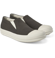 Rick Owens - Leather-Toecap Gabardine Slip-On Sneakers