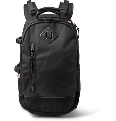 Visvim - Ballistic 20L Suede-Trimmed CORDURA® Canvas Backpack