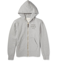Visvim - Stencil-Print Cotton-Blend Jersey Zip-Up Hoodie