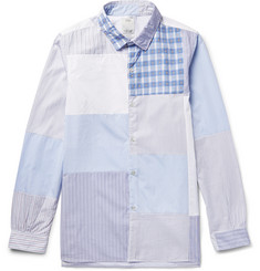 Visvim Long Rider Patchwork Cotton-Poplin Shirt