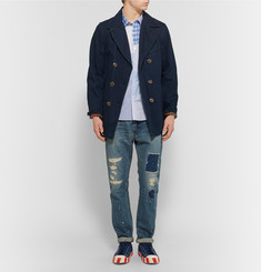 Visvim - Long Rider Patchwork Cotton-Poplin Shirt
