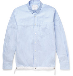 Sacai Drawstring-Hem Cotton-Poplin Shirt