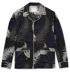 Sacai - Camp-Collar Printed Voile Shirt