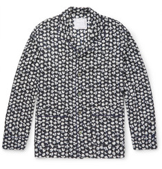Sacai - Printed Camp-Collar Voile Shirt