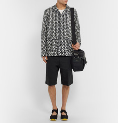 Sacai Printed Camp-Collar Voile Shirt