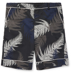 Sacai - Wide-Leg Printed Voile Shorts