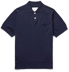 Sacai Cotton-Piqué Polo Shirt