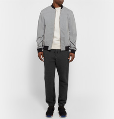Sacai - Double-Faced Mélange Cotton-Blend Jersey Sweatshirt