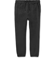 Sacai Tapered Cotton-Blend Jersey Trousers