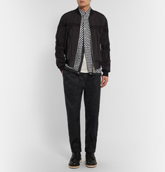 Sacai - Drawstring-Hem Checked Linen Shirt