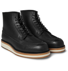 Sacai - + Hender Scheme Leather Lace-Up Boots