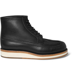 Sacai + Hender Scheme Leather Lace-Up Boots