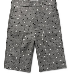Paul Smith Paint-Splattered Houndstooth Linen Shorts