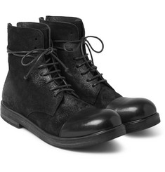 Marsell - Brushed-Nubuck and Leather Boots