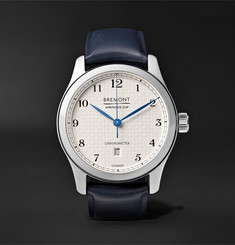 Bremont - AC I 43mm Stainless Steel and Leather Automatic Chronometer Watch