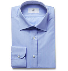 Dunhill - Light-Blue Slim-Fit Micro-Checked Cotton-Poplin Shirt