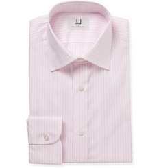 Dunhill Pink Slim-Fit Striped Cotton Shirt