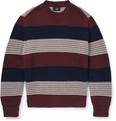 Dunhill - Slim-Fit Striped Ribbed Cotton Sweater