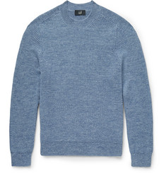 Dunhill Slim-Fit Ribbed Mohair and Linen-Blend Sweater
