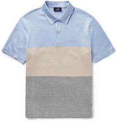 Dunhill Slim-Fit Silk and Cotton-Blend Polo Shirt